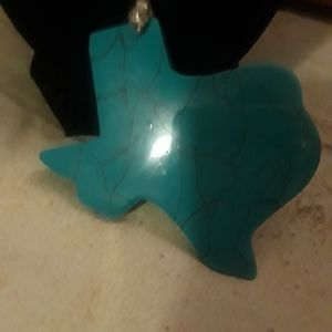 Jewelry - Unique Texas shaped turquoise necklace